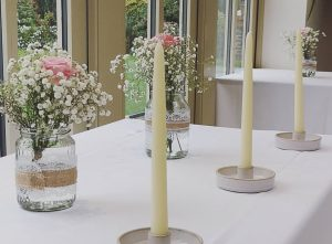 3 candles ready for the candle lighting unity ceremony a great symbolic action for a wedding