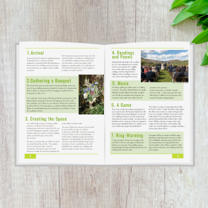 sample pages of guide - 14 creative ways to include friends and family in your wedding ceremony by Jennie Hermolle Humanist Wedding celebrant